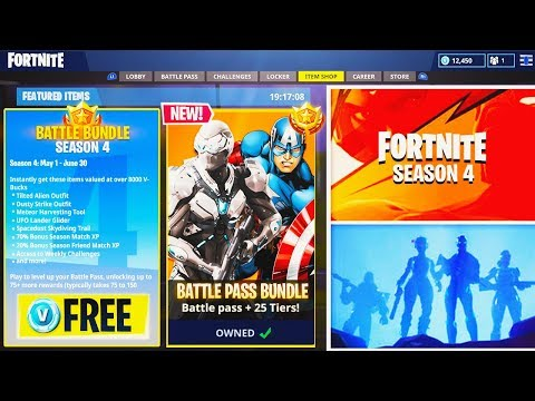 "NEW Fortnite Season 4 ""Battle Pass Bundle"" FREE For Subscribers! - Fortnite: Battle Royale Season 4! thumbnail"