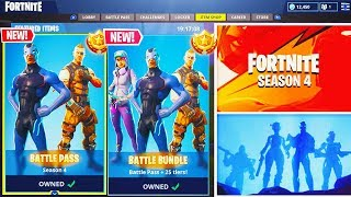 "NEW Fortnite Season 4 ""Battle Pass Bundle"" UNLOCKING! - Fortnite: Battle Royale Season 4 Update!"