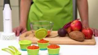 How To Make Sweet Potato, Apple And Beetroot Puree