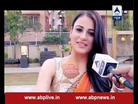 Radhik Madan does push up in saree