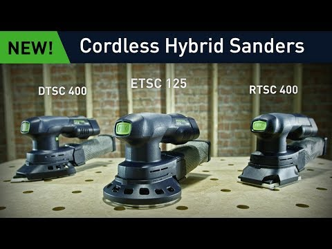 Cordless Sanders: Corded and cordless in the same hybrid sander