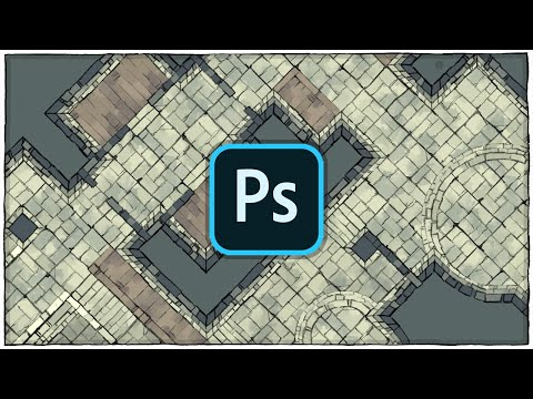 How To Make A Custom Dungeon Map With Photoshop And Assets From 2-Minute Tabletop