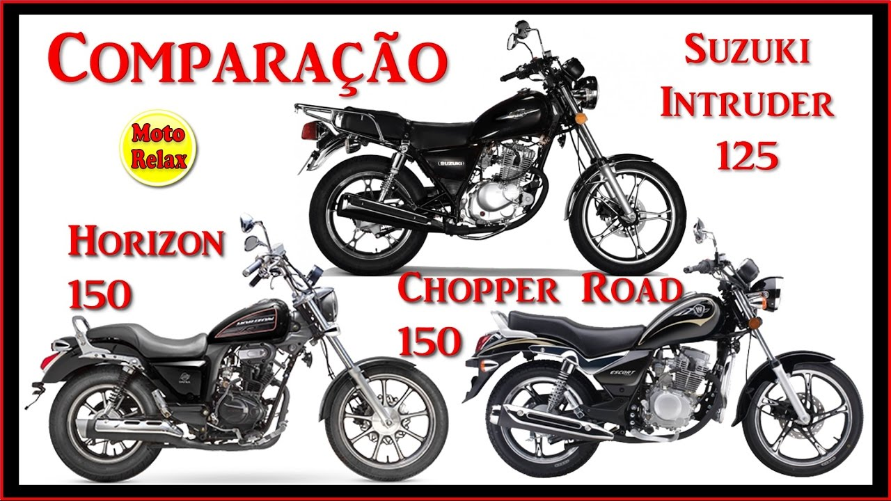 comparativo haojue chopper road 150 x suzuki intruder 125. Black Bedroom Furniture Sets. Home Design Ideas