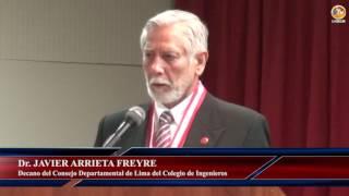 Tema: Autoridades sanmarquinas reciben reconocimiento por parte del Colegio de Ingenieros