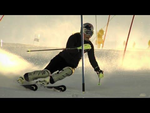 Lindsey Vonn Slow Motion Slalom  Red Bull Moments