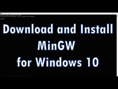 How to install MinGW compiler on Windows 10!!
