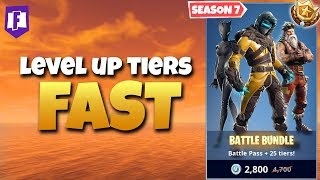 Best Way to RANK UP TIERS FAST - Season 7 Battle Pass (Fortnite Battle Royale)
