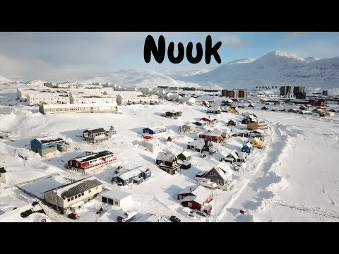 4K drone footage of Nuuk, Greenland (2nd video)