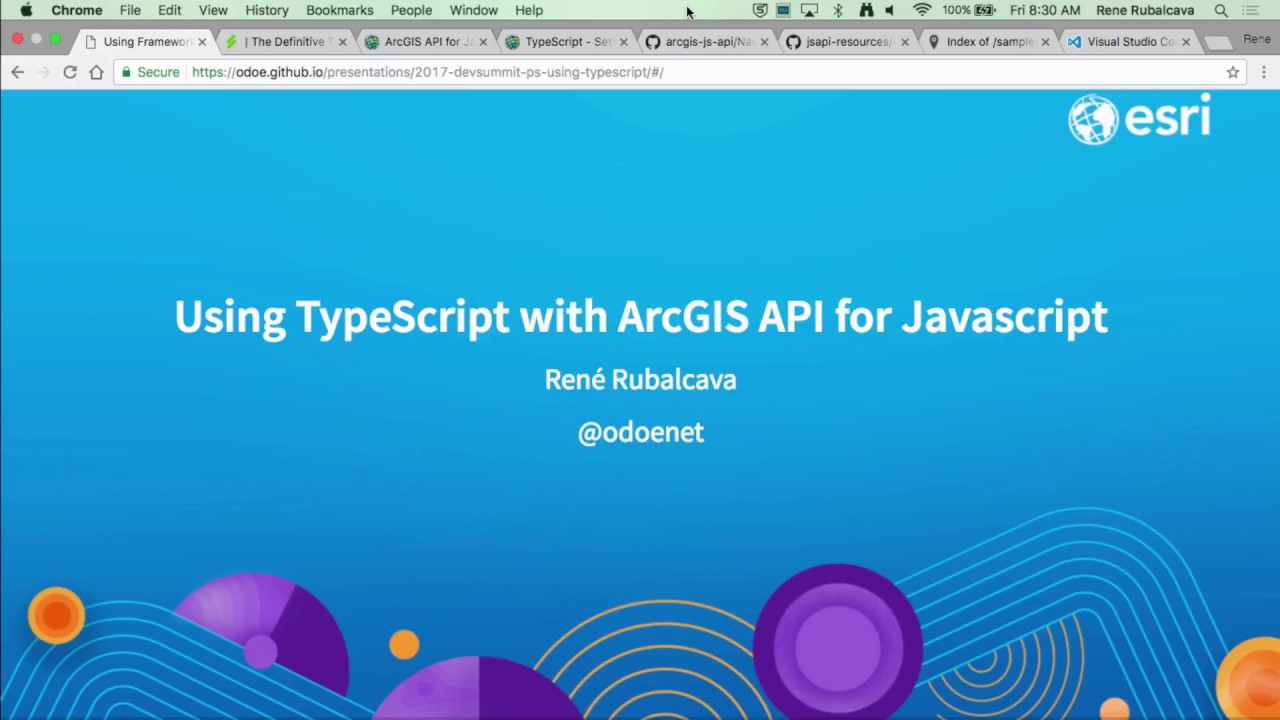 Using TypeScript with ArcGIS API for JavaScript