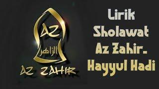 Az Zahir - Hayyul hadi(Lirik Arab dan Latin)