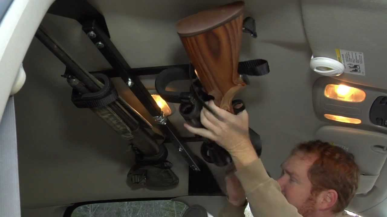 Center-Lok: Overhead Gun Rack for Trucks - YouTube