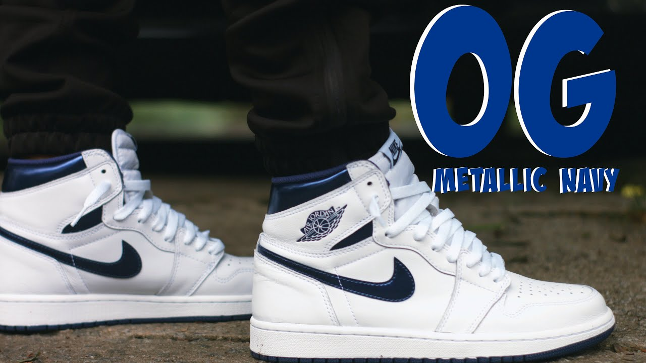 2016 Air Jordan 1 Retro Metallic Navy White Metallic Navy