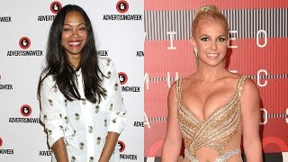 Zoe Saldana Was 'Shocked' But Not Mad After Britney Spears Revealed She Was Pregnant With Twins