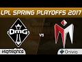 OMG vs IM Highlights Game 3 LPL Spring Playoffs 2017 OMG vs I May