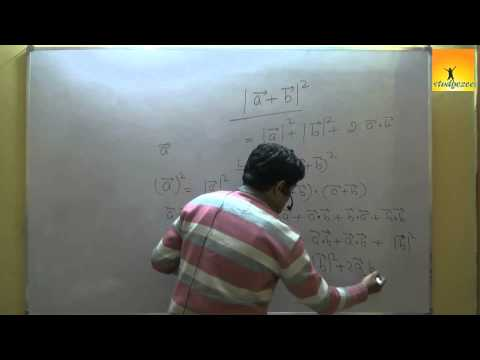 Class 12 Maths : Vectors - Dot product ( Scalar product ) Part 1
