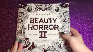 Flip through & Review of Beauty of Horror 2 Coloring Book | September 14, 2017