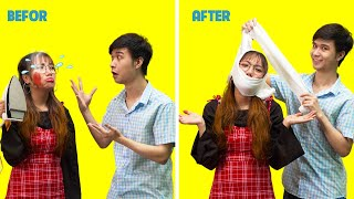 Funny Couple Pranks | Try Not To Laugh | BEST Funny Couple Situations | HOLA Fun