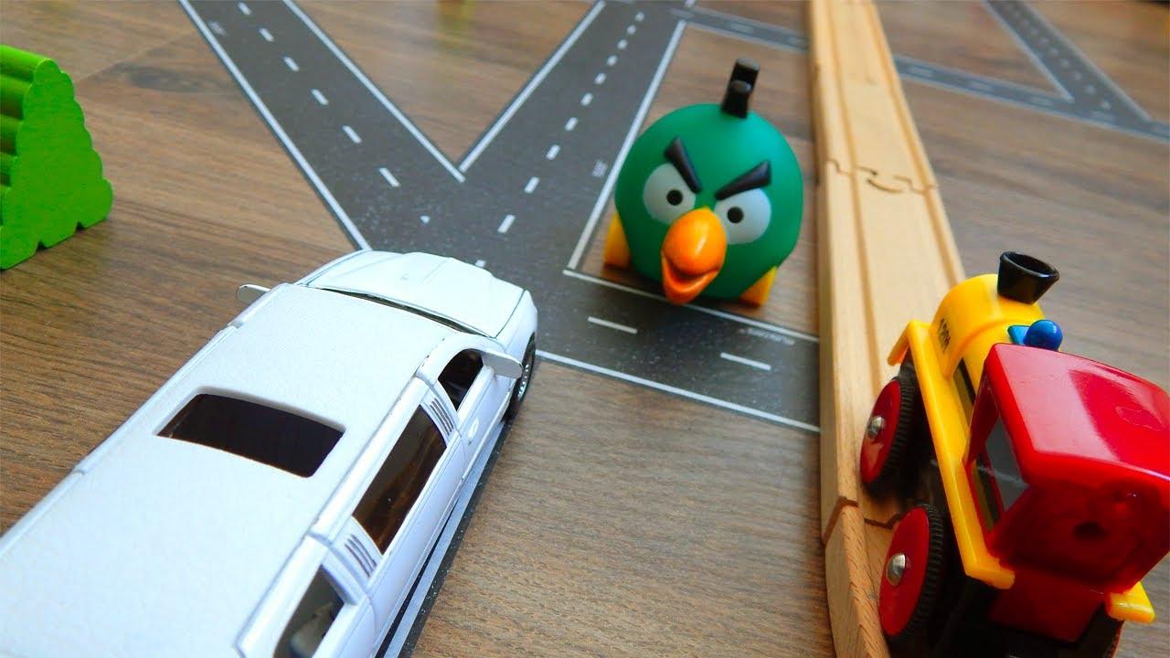 Машинки игрушки Мультик Город Машинок 333 серия: Соревнование - Лимузин и поезда