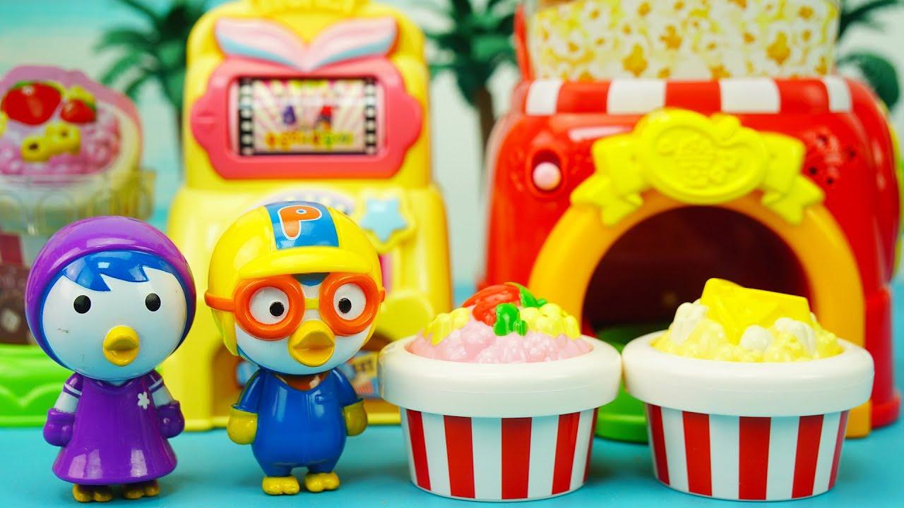 小豆子過家家玩具:啵樂樂到小豆子店裡買水果味爆米花