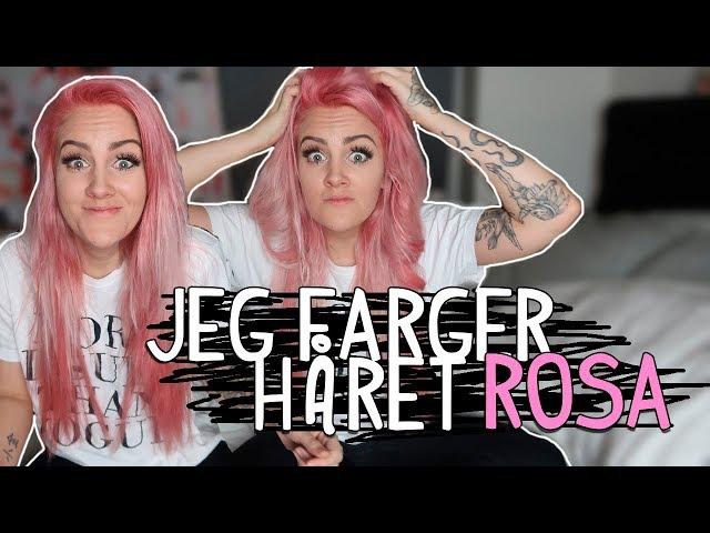 Jeg Farger Håret Rosa!!!!! Vlogg