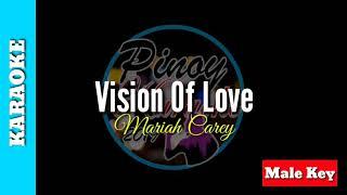 Vision of love by mariah carey (karaoke : male key)