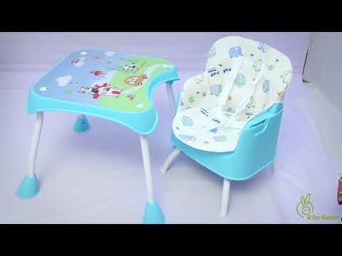 R for Rabbit's Cherry Berry Grand -The Convertible 4 in 1 High Chair Installation Video
