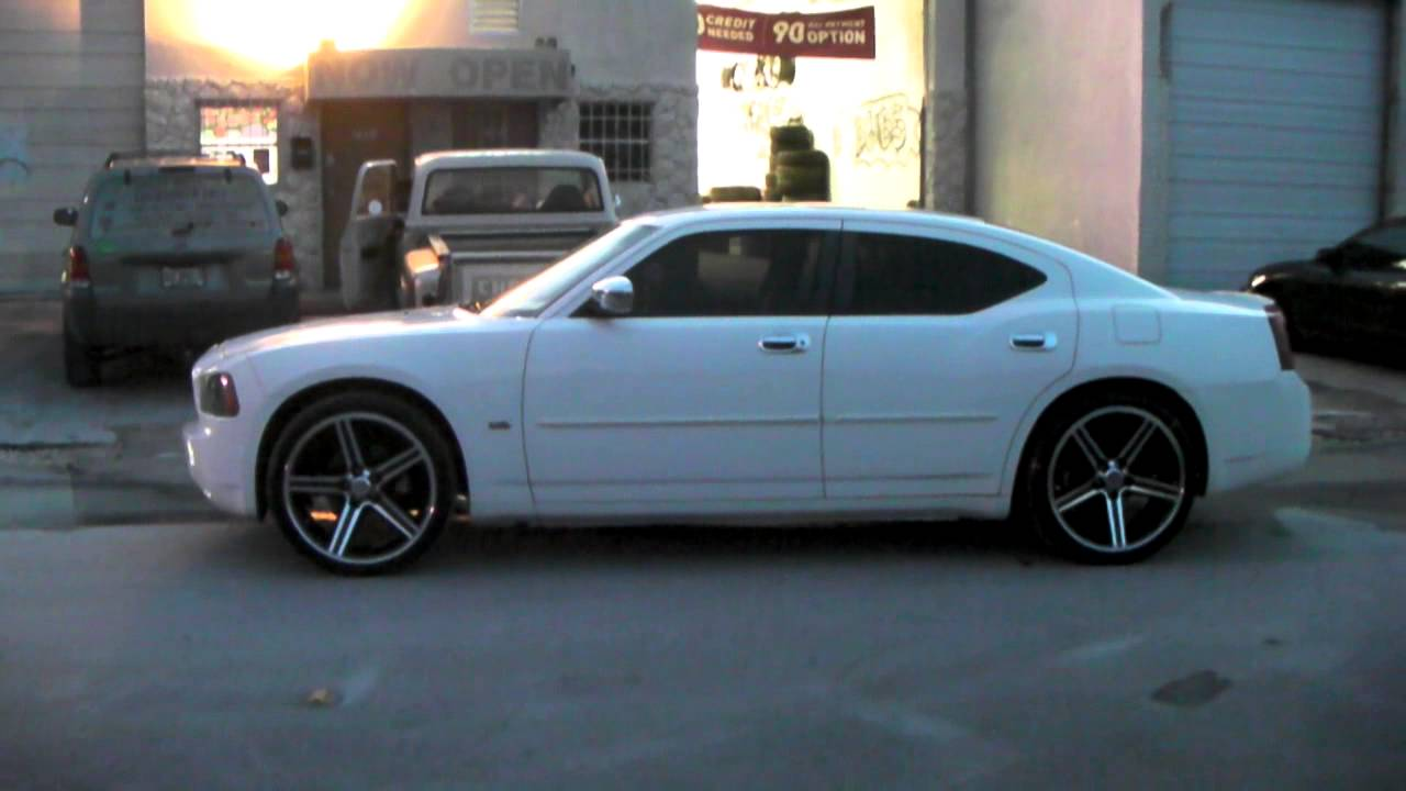 dubsandtirescom 22 inch iroc black wheels 2006 dodge charger review rims miami youtube - Dodge Charger 2013 White Black Rims
