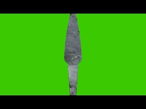 Throwing Knife in Differant Position Green Screen Animation
