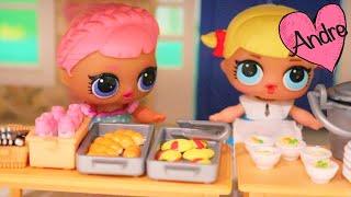 Ayudante de cafeteria - Bebes LOL Surprise | Muñecas y juguetes con Andre para niñas y niños