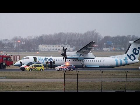 Crash à l'aéroport Schiphol d'Amsterdam