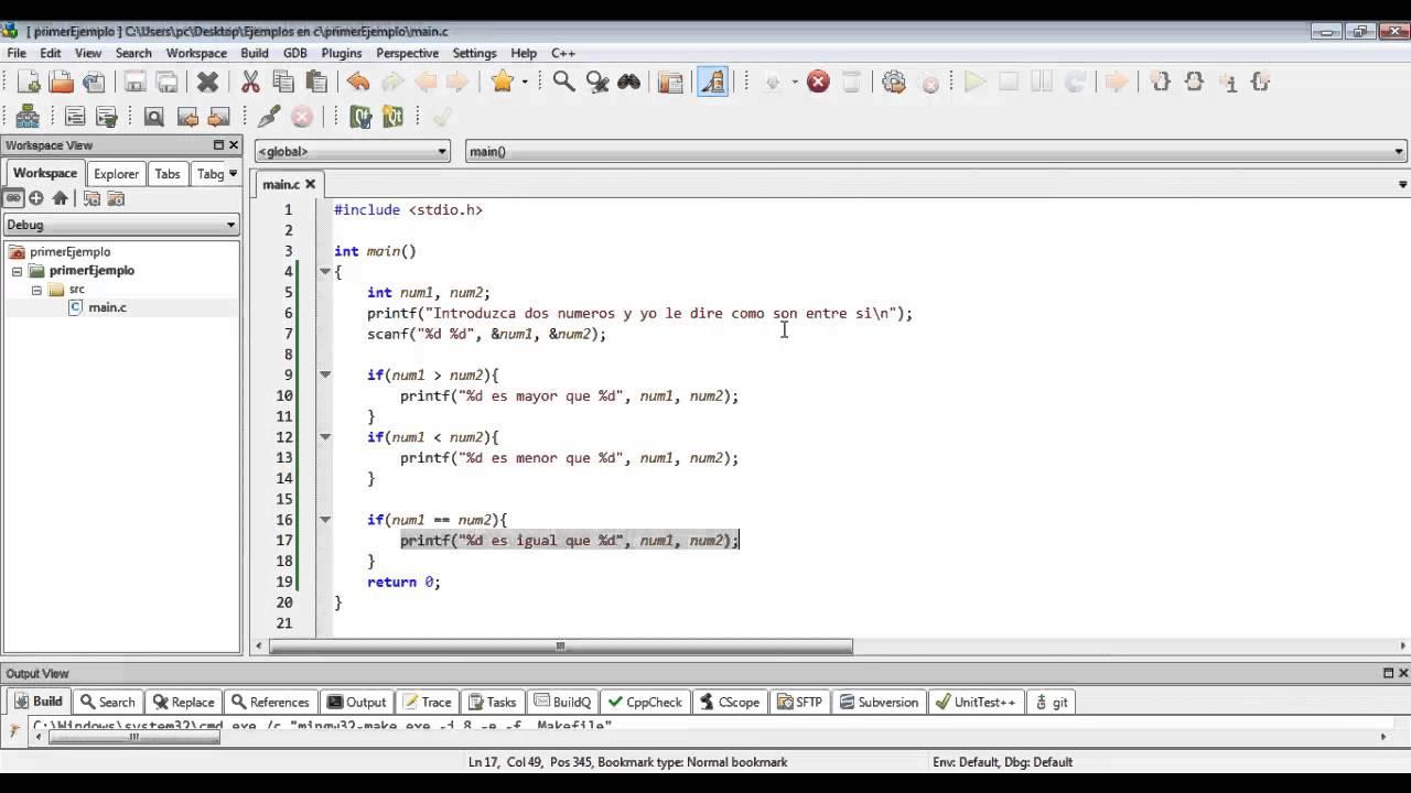 02 Programacion En C La Estructura Condicional If En C