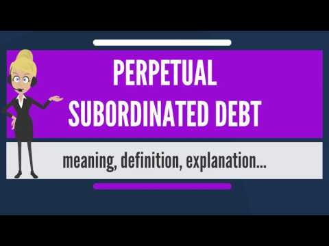 What is PERPETUAL SUBORDINATED DEBT? What does PERPETUAL SUBORDINATED DEBT mean?