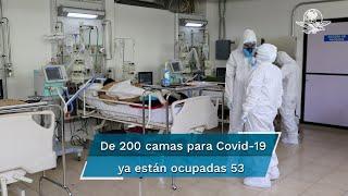 La Secretaria General del Sindicato Nacional de Trabajadores de la Secretaría de Salud, sección 32, afirma que la entidad sólo cuenta con 200 espacios para atender a pacientes