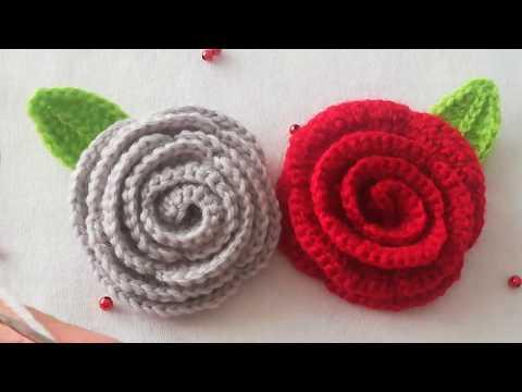 #Örgü Tığ işi Kolay #gülyapımı #çiçekyapılışı #DIY