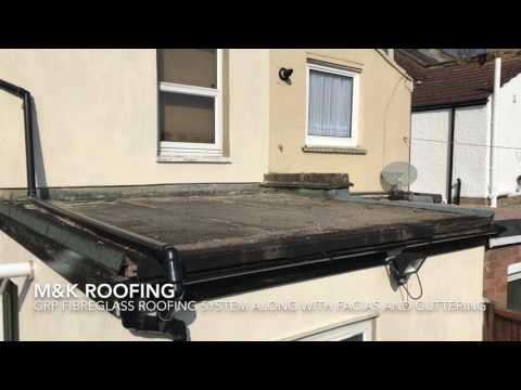 M&K ROOFING N15 GRP fibreglass roof facias guttering installation