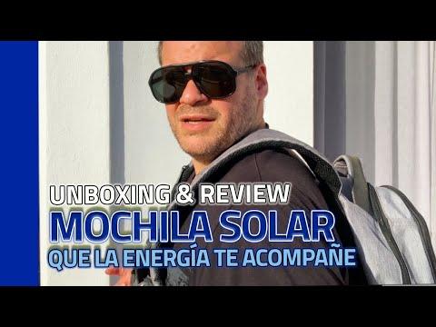 La mejor MOCHILA 🎒 con panel SOLAR ☀ para carga ultra-rápida del mercado 🌏