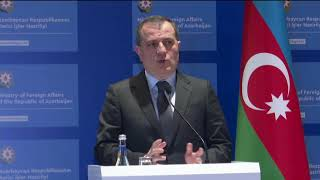 Press-briefing by J.Bayramov & Minister of Foreign Affairs & Trade of Hungary P.Szijjártó - 10.03.21