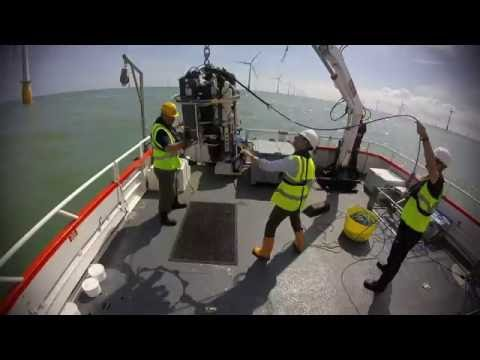 Surveying of sediment plumes at Thanet offshore windfarm