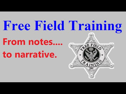 Report Writing For Police And Security Pt. 1