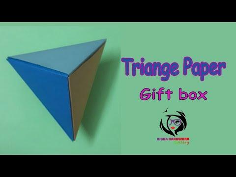 DIY/Handcraft/Paper pyramid Gift Box/Paper Triange Gift Box/Paper  Craft/Handwork#143