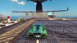Just Cause 3: Jumping a Car Into a Flying Cargo Plane
