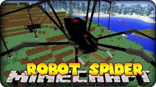 minecraft-mods-giant-robot-spider-orespawn-mod-showcase