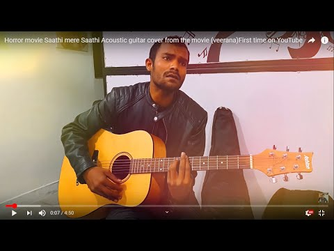 Horror movie Saathi mere Saathi Acoustic guitar cover from the movie (veerana)First time on YouTube