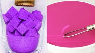 Very Satisfying and Relaxing Compilation 142 Kinetic Sand ASMR