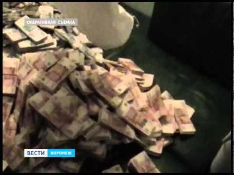Оперативная съемка. Изъятие денег из гаража родственников Трубникова.