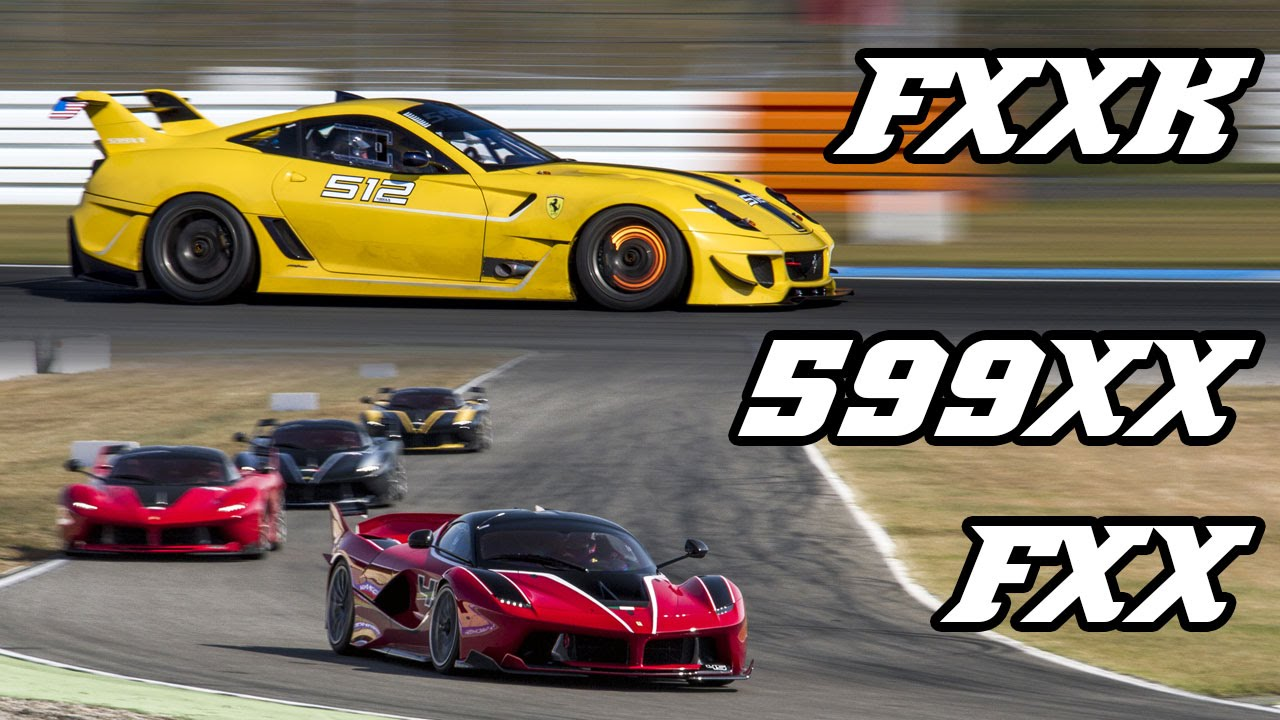 Ferrari FXXk, 599xx and FXX - pure V12 sounds (Hockenheim 2016)