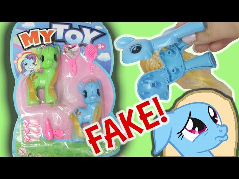"FAKE MY LITTLE PONY?! "" My Toy Pony "" review MLP 