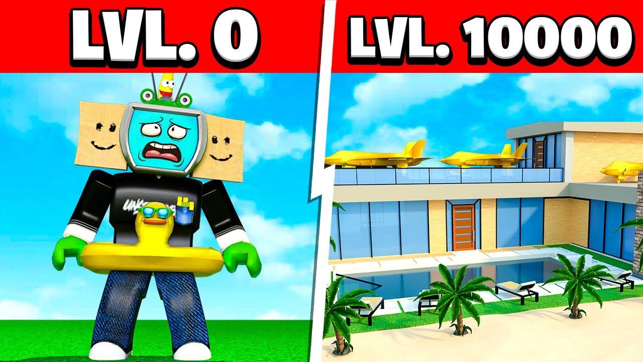 Download LEVEL 0 vs LEVEL 10,000 MILLIONAIRE RESORT TYCOON!