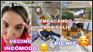 VLOG 447 JAPÓN EL VECINO INCOMODO 😫+ EMPACAMOS POR QUE NOS VAMOS 🚅+ UN DIA DE PICNIC ❤️+ QUE CALOR🔥