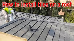 Installing a Tile Roof , this video explains step by step how to do it ,fix roofs, stop water leaks.